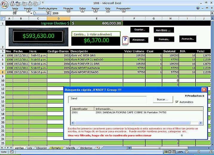 NUEVO SISTEMA PLANILLA DE VENTAS 2012 - formato inventario en excel