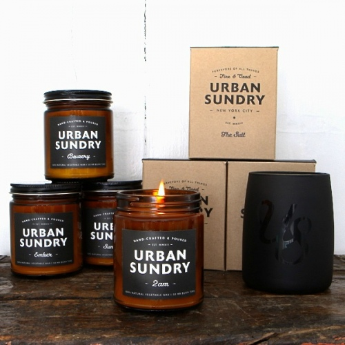 NEW URBAN SUNDRY AMBER JAR CANDLES