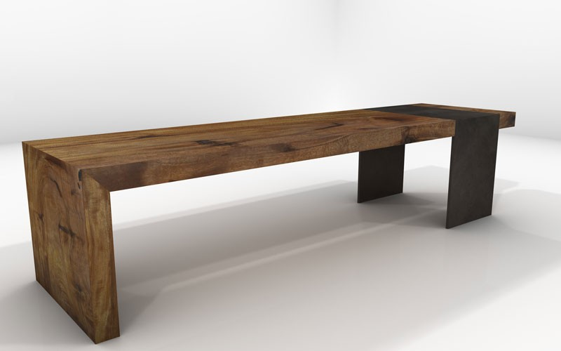 Deneb Bench- Sustainable Solid Wood Living Room Furniture - JH2 - bench for living room