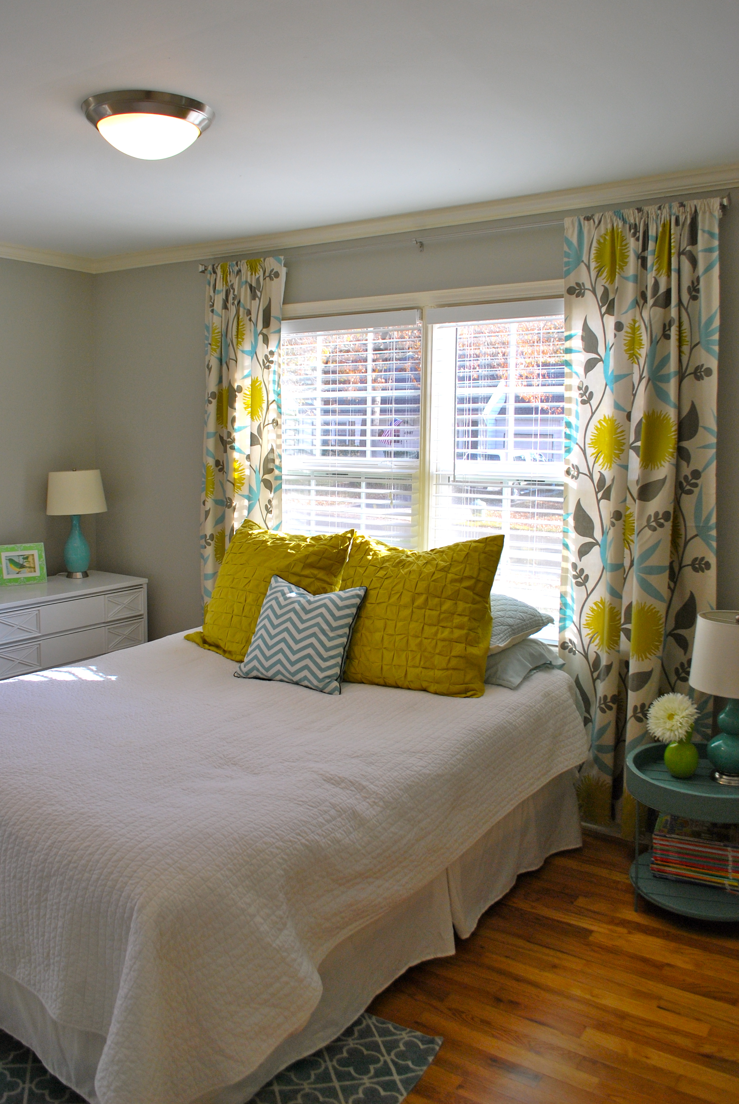 Kitchen Curtains For Yellow Walls Guest Room Design The Suburban Urbanist