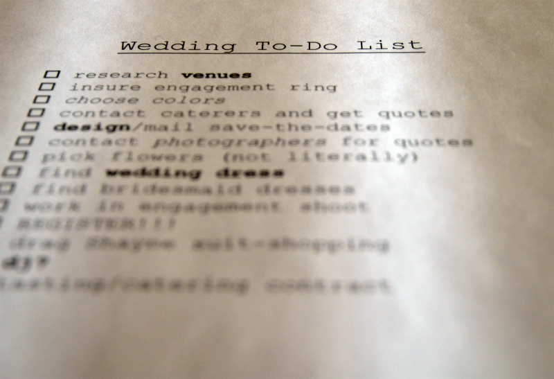 wedding checklist / to-do list ~for the rest of my life~