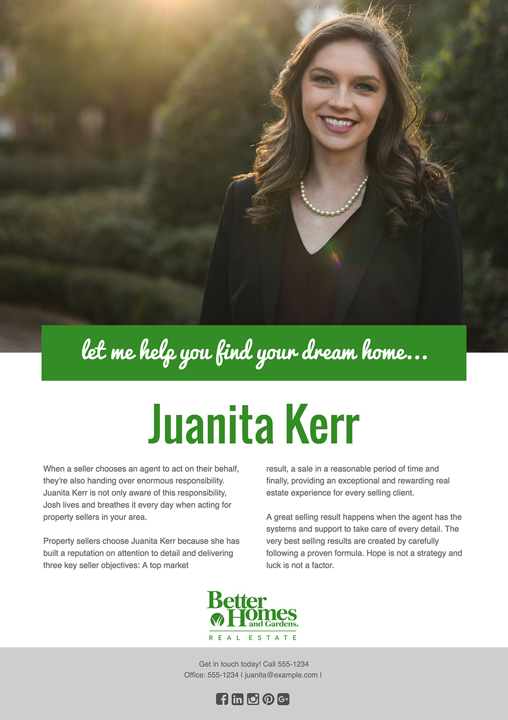 real estate agent flyers examples