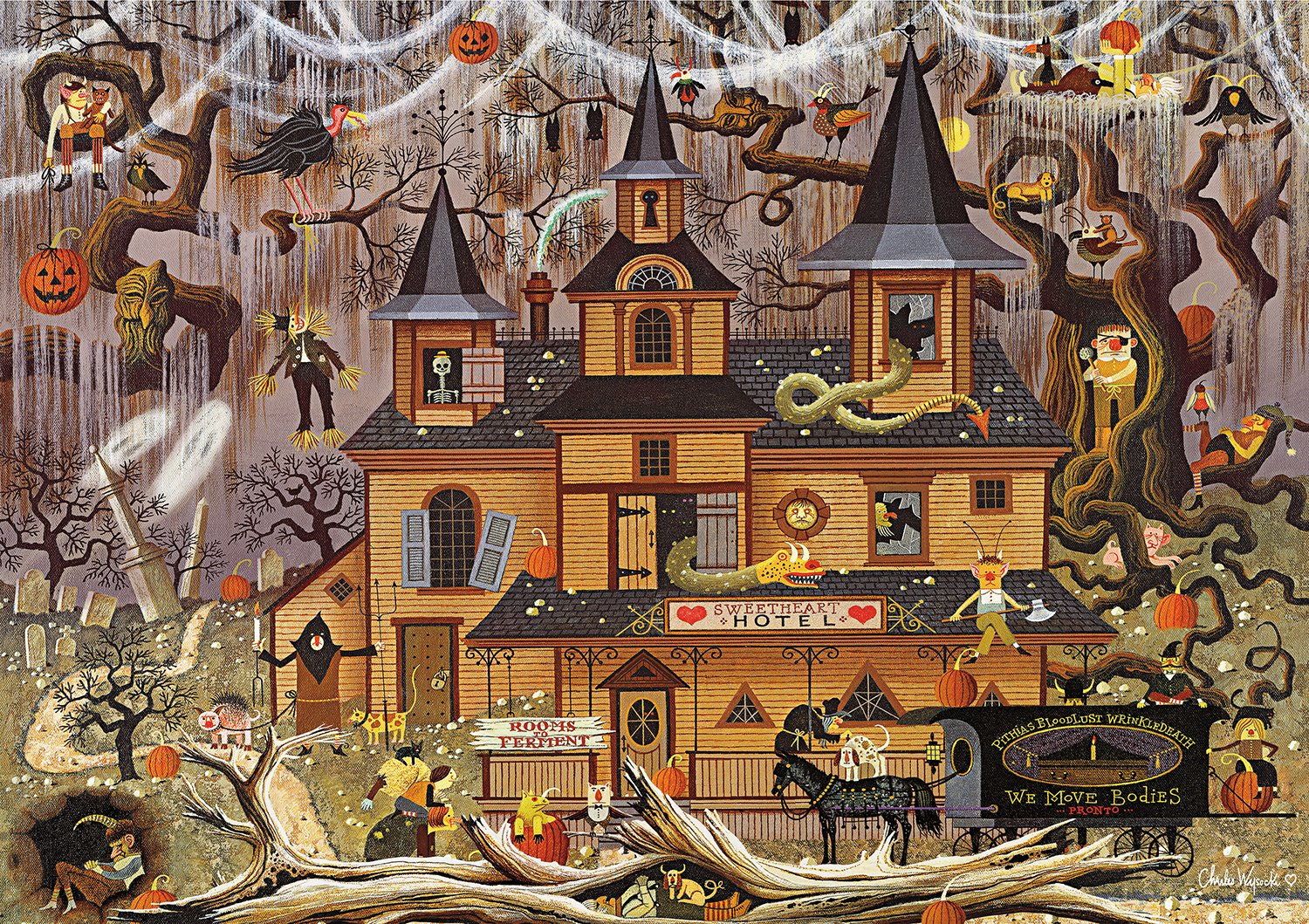 Puzzel Online Halloween Jigsaw Puzzles For Adults Bewitching Spooky Halloween Fun