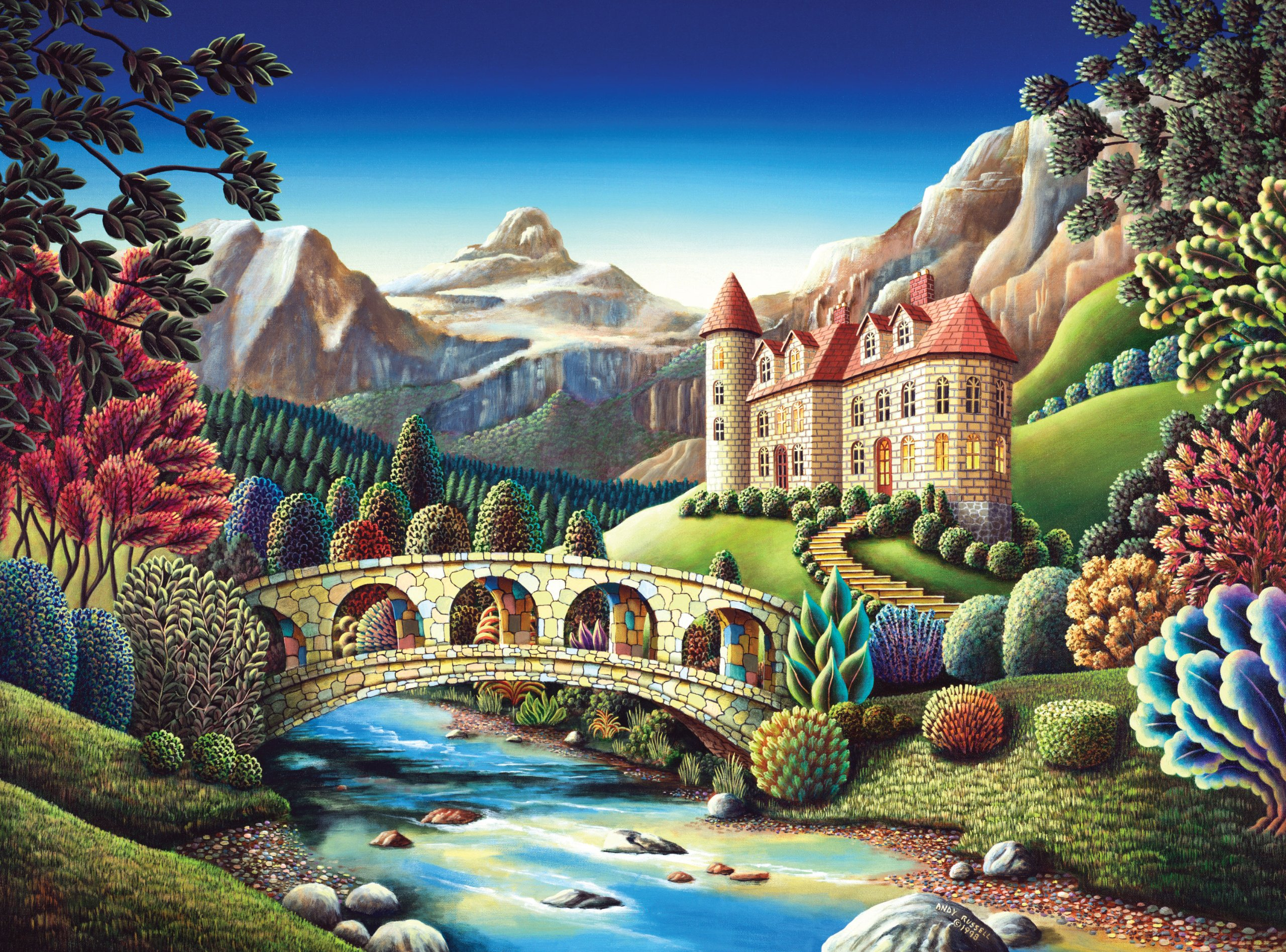 3d Tinkerbell Wallpaper Andy Russell Puzzles Stunning Dream Like Landscape Jigsaw