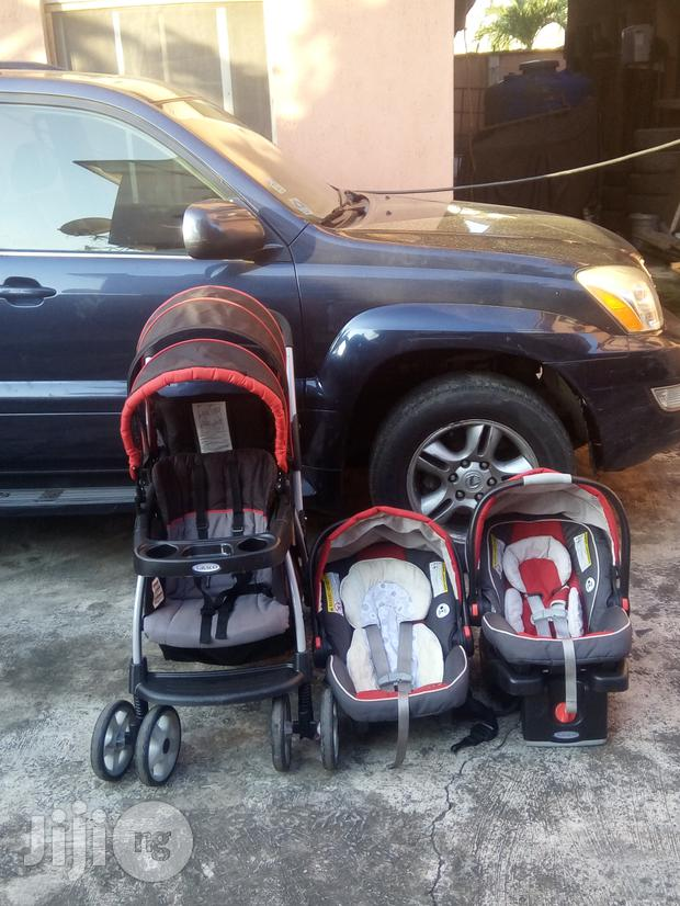 Baby Car Seat On Jiji Tokunbo Uk Used Graco Double Stroller With Car Seat From