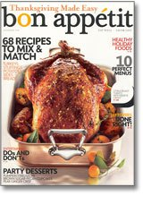 Bon Appetit Nov 2009 Cover