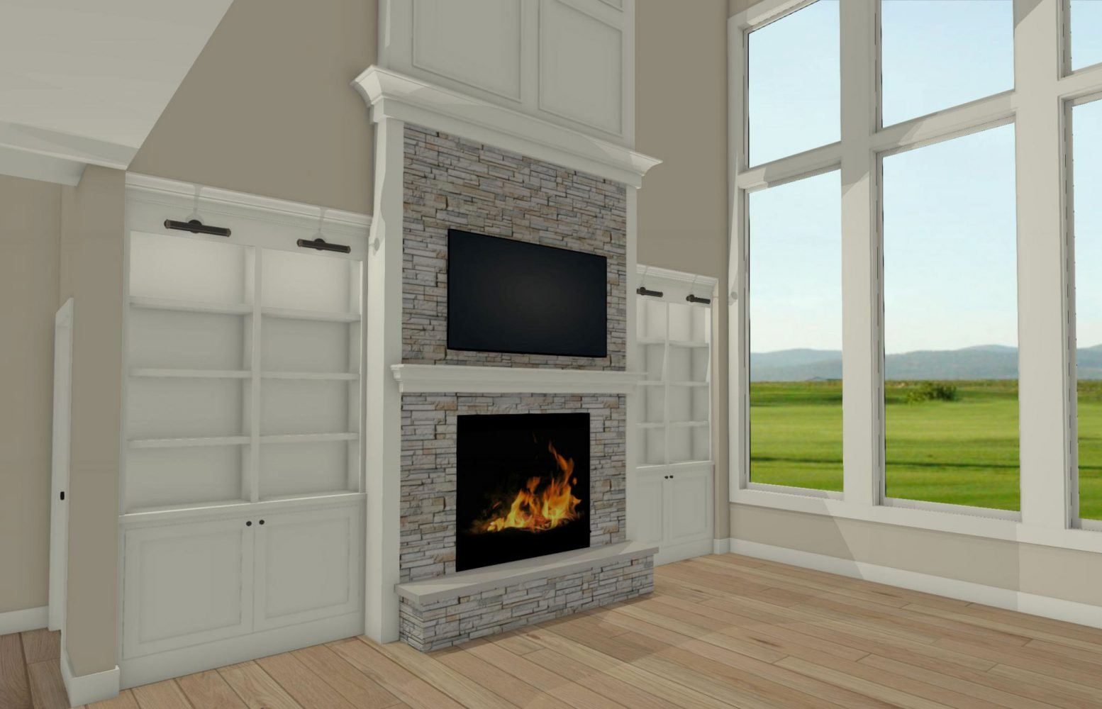 Wood Wall Behind Tv Design Dilemmas How To Design A Great Room Fireplace Wall With