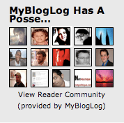 Screenshot of the mybloglog blog's recent reader widget