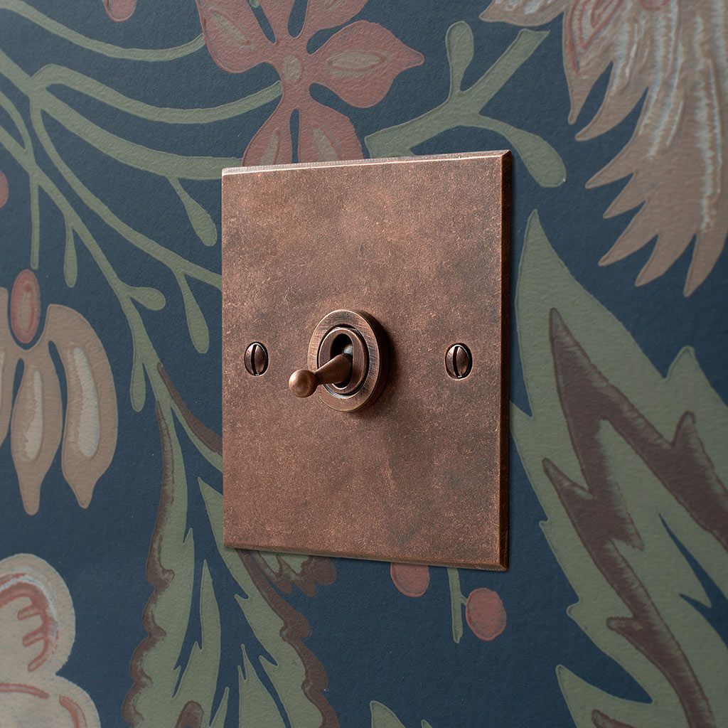 Copper Light Switch Plates 1 Gang Dolly Switch Heritage Copper Jim Lawrence