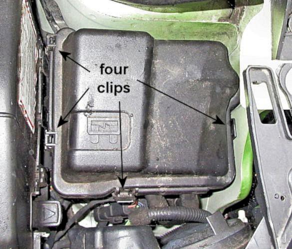 Peugeot 1007; Fuses; Fusebox