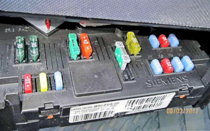 Peugeot 206 Fuse Box Index listing of wiring diagrams