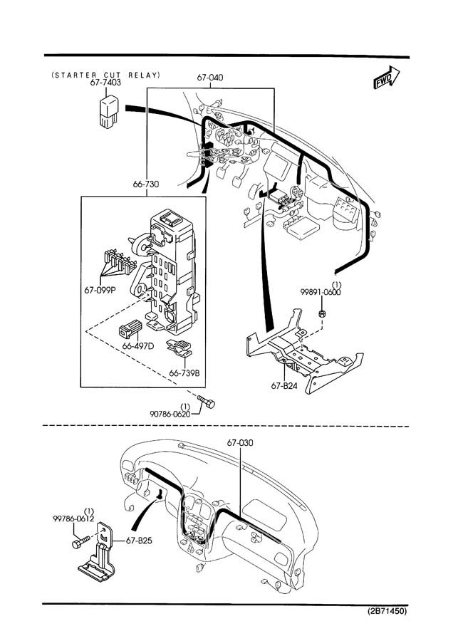 mazda protege wiring harness overview