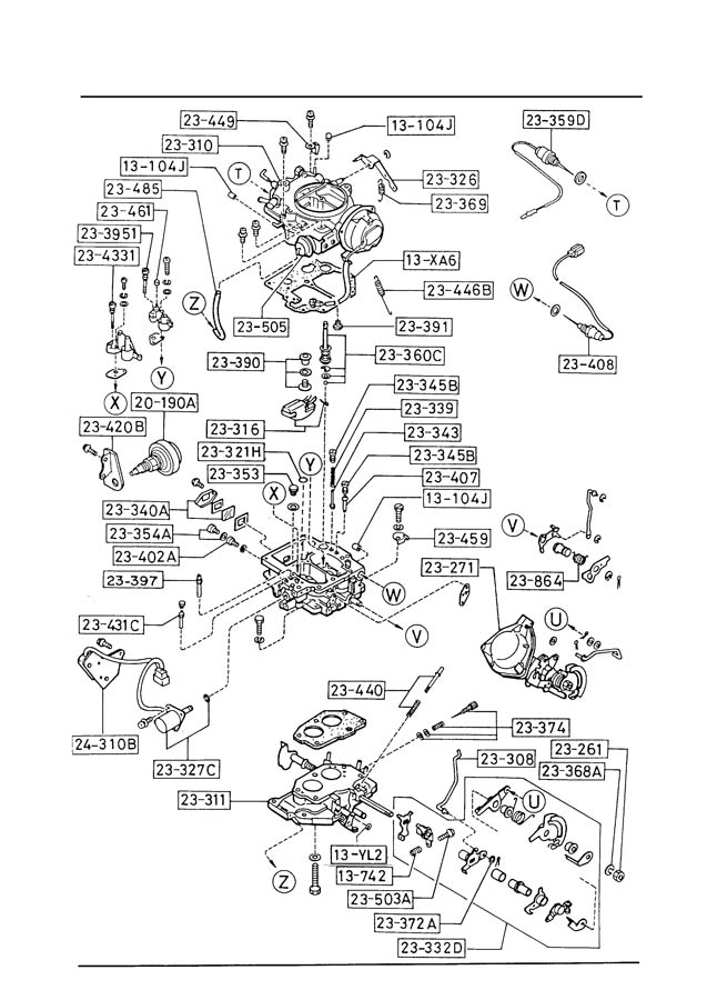 mazda b2200 engine parts diagram