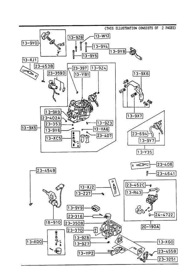 88 mazda b2200 carb diagram also with 89 mazda b2200 parts