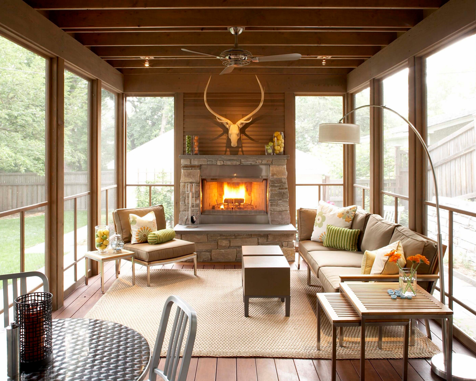 20 Most Beautiful Screened Porch With Fireplace Ideas For A Cozy Outdoor Living Jimenezphoto