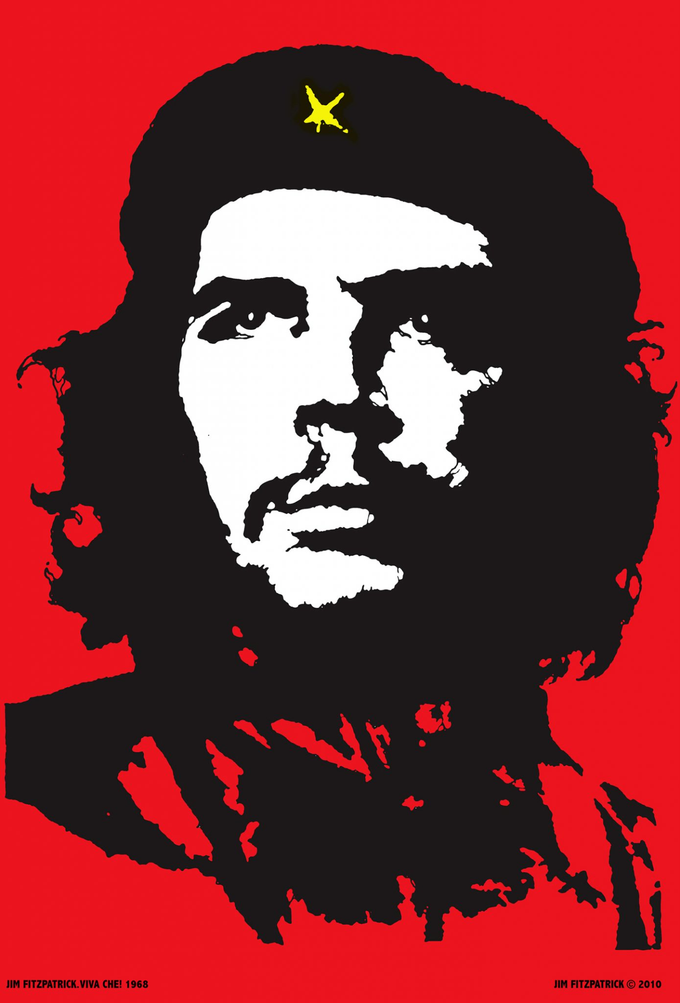 Poster Red Che Guevara Viva Che 1968 The Original Red And Black Che Guevara