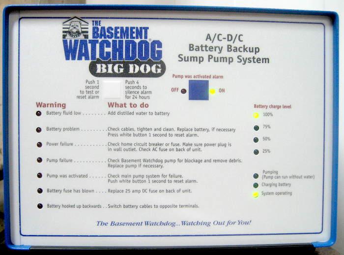Basement Watchdog Big Dog transformer failure Jim\u0027s Projects