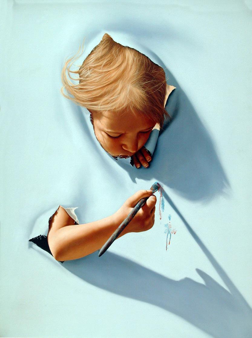 Girl In Action Wallpaper Jim Warren Inspiring Surrealism Artpeople Net