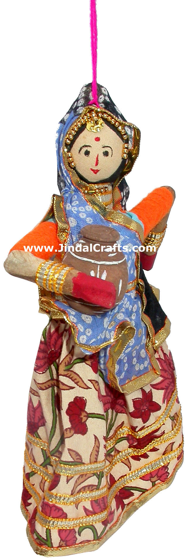 Wood Art Handmade Traditional Hanging Village Dolls Indian Art