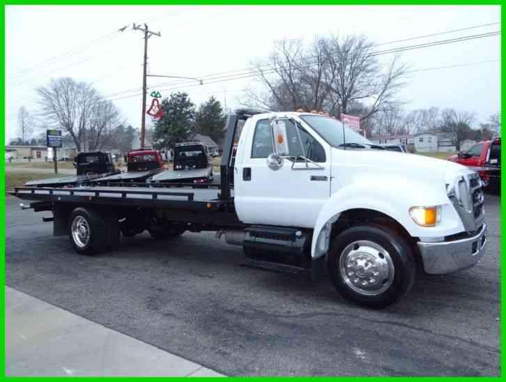 Ford F550 Crew Cab Rollback Diesel Tow Truck 2car Hauler