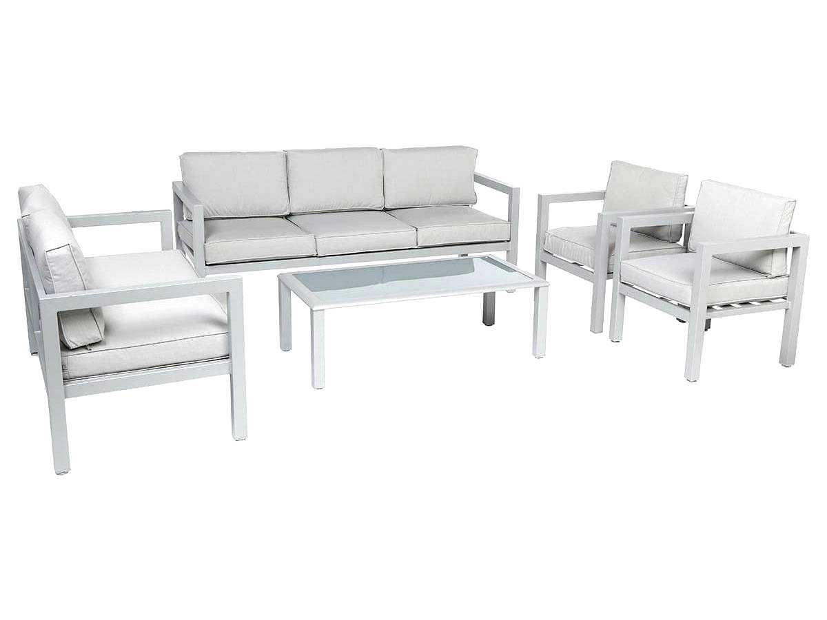 Stunning Salon De Jardin Aluminium Azua Gris Contemporary - House ...