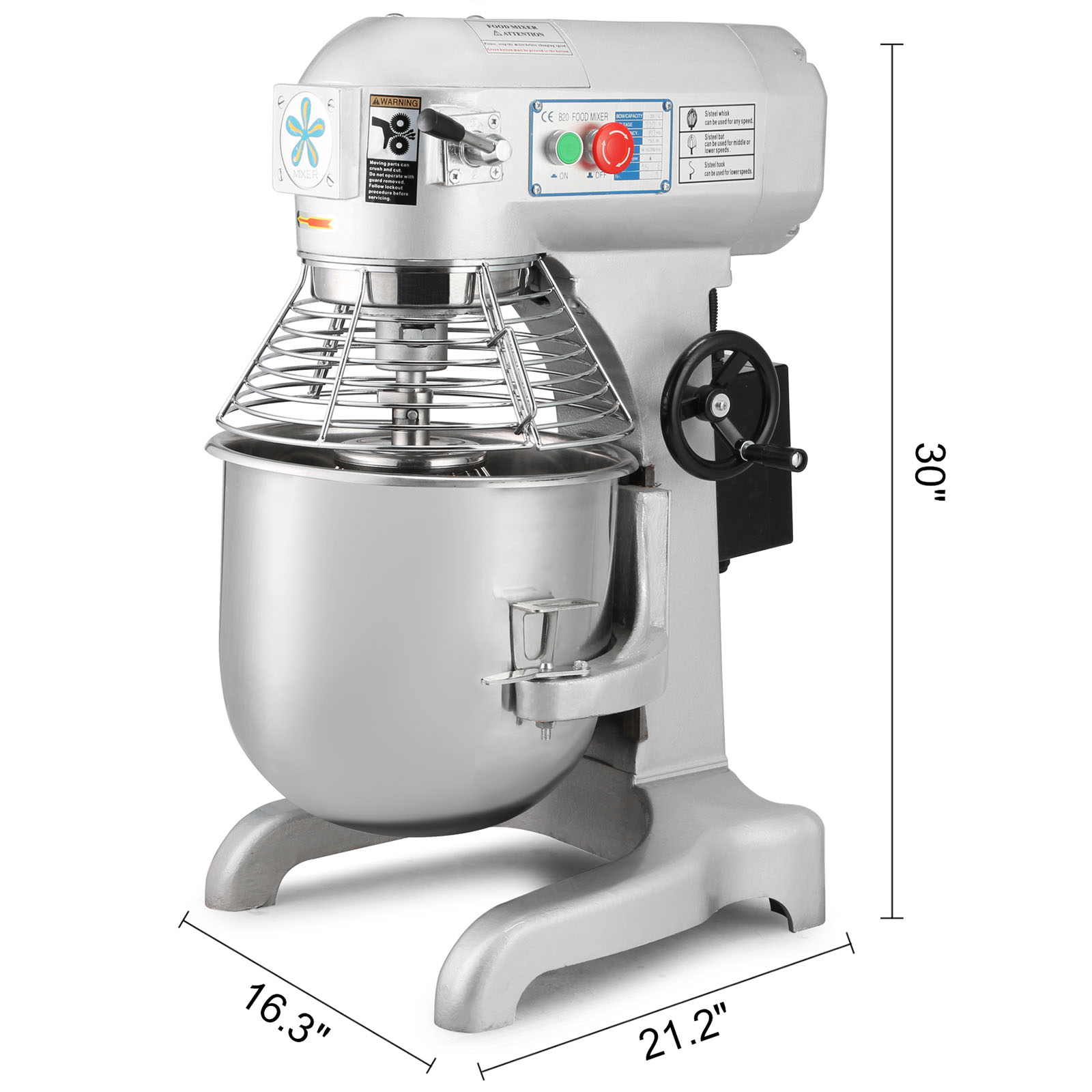 Commercial Countertop Mixer Food Dough Stand Mixer Mixing Tool Stainless Steel Bowl