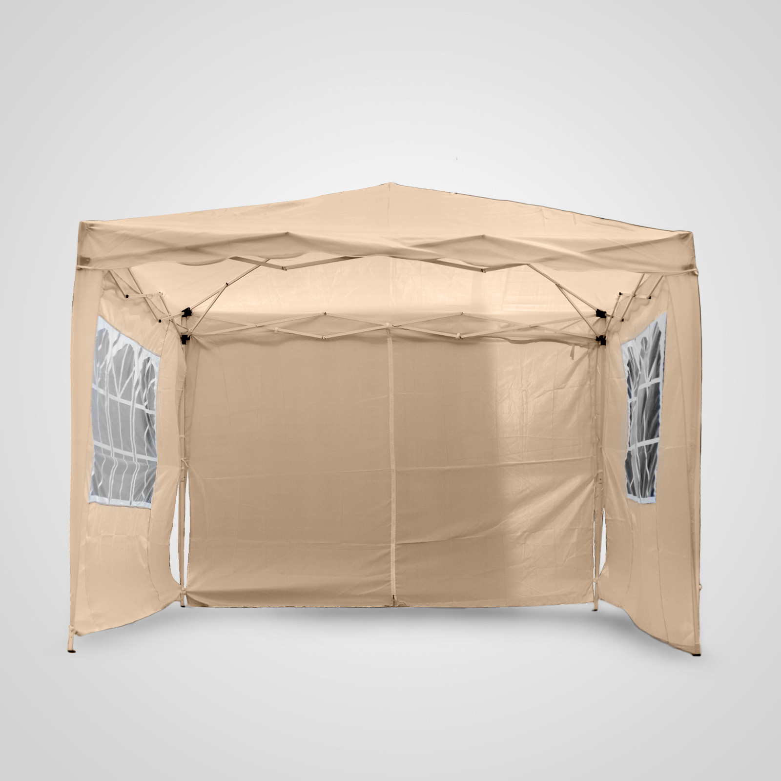 Gazebo Awning 3x3m Pop Up Gazebo Tent Waterproof Canopy Awning Patio Sun