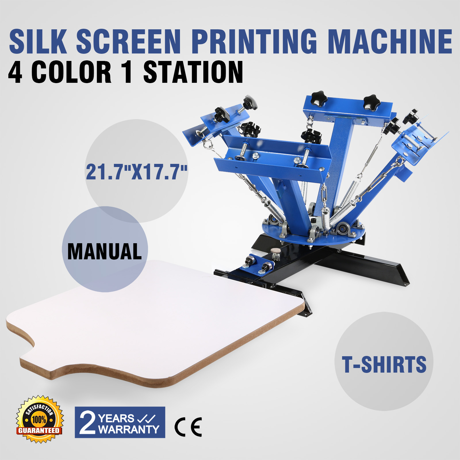 Diy Screen Printing Shirts Details About 4 Color 1 Station Screen Printing Machine Diy T Shirt Press Printer