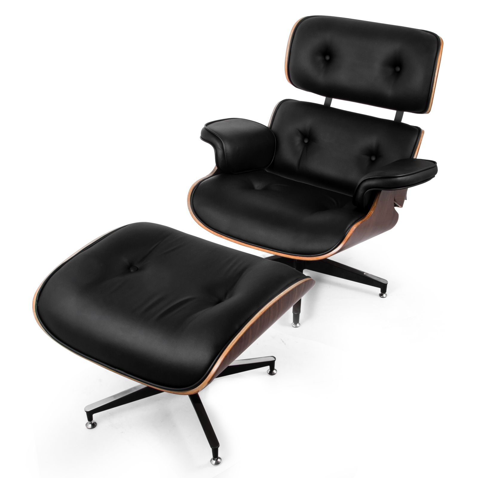 Eames Chair Replica Ebay Details About New Eames Classic Replica Lounge Chair Ottoman Milan Direct Armchairs