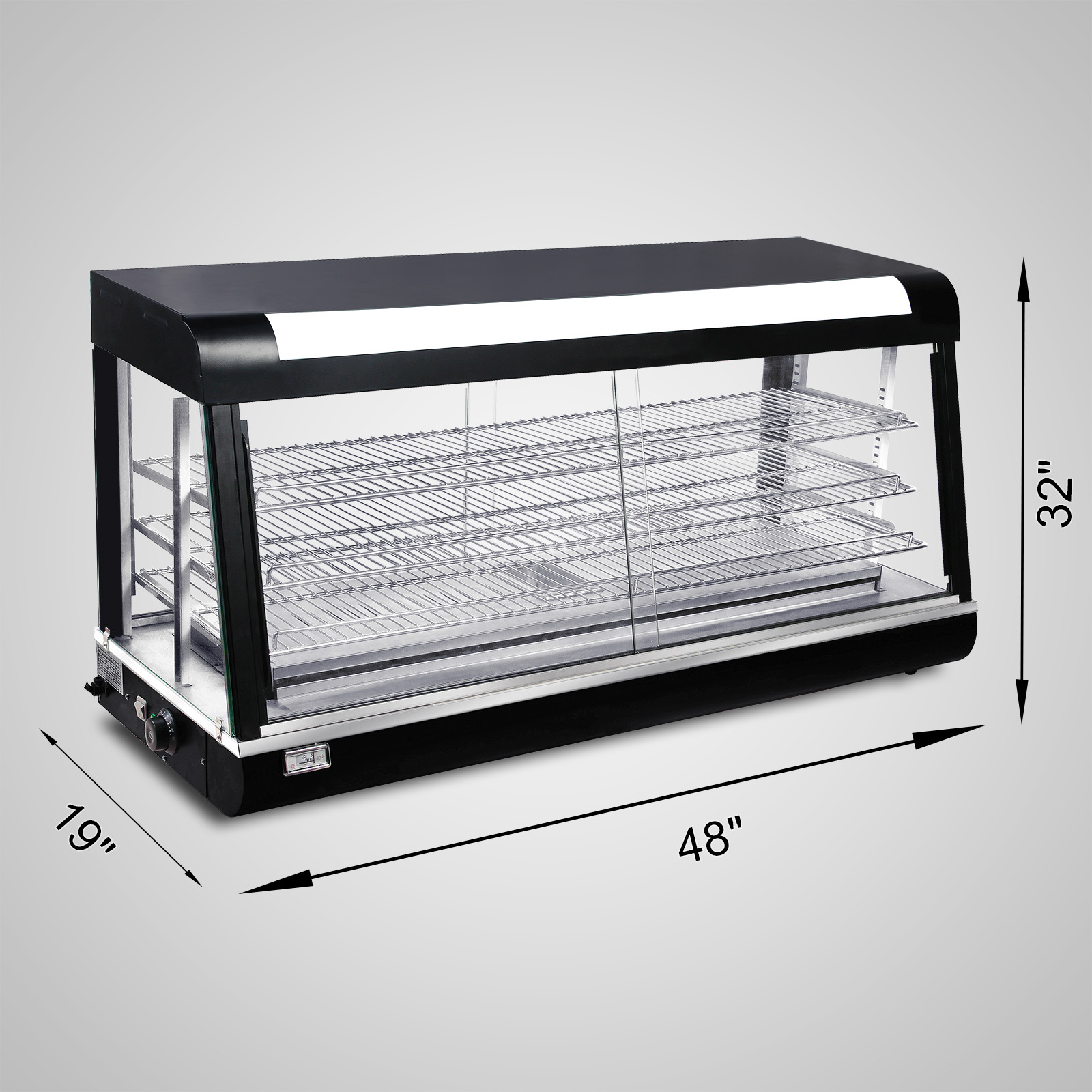 Countertop Pizza Warmer Commercial Food Warmer Pizza Pastry Hot Countertop Display