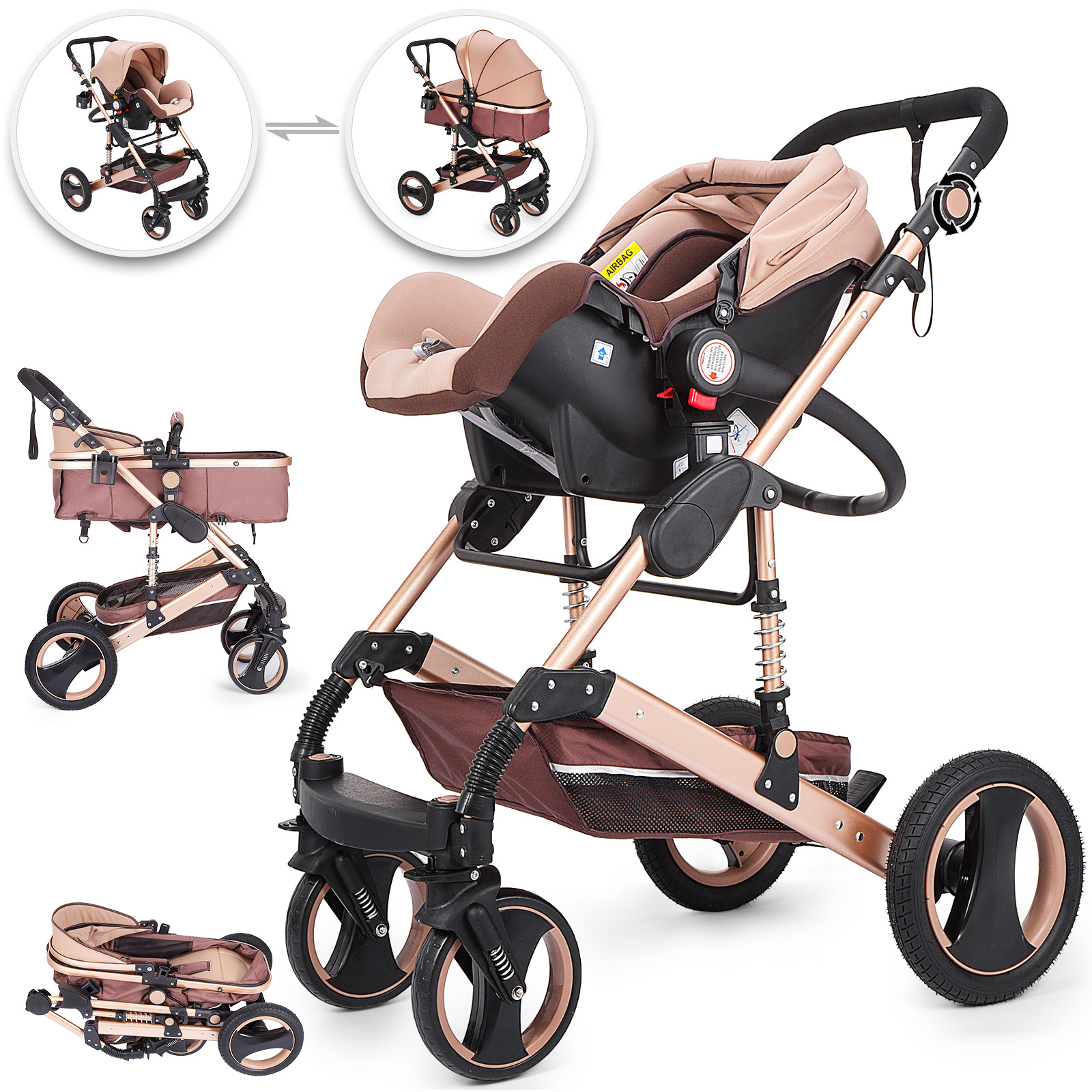 Stroller Travel System Ebay Details About 3 In 1 Baby Stroller Buggy With Car Seat Newborn Pram Pushchair Travel System