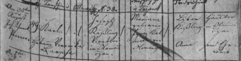 Kyzlink Karel nar. 1820 Olomučany