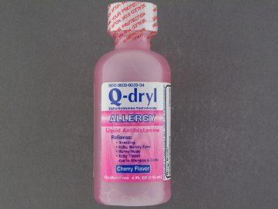 Q Dryl 12 5 Mg 5ml Liquid Dosage Chart Allergy Relief Q