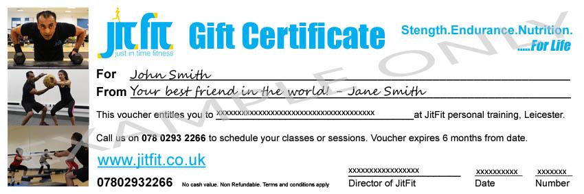 personal training gift certificate - Alannoscrapleftbehind - gift voucher format
