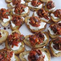 Roasted Red Pepper, Sun Dried Tomato Tapenade
