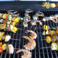 Shrimp & Veggie Skewers - Pass the Pulo