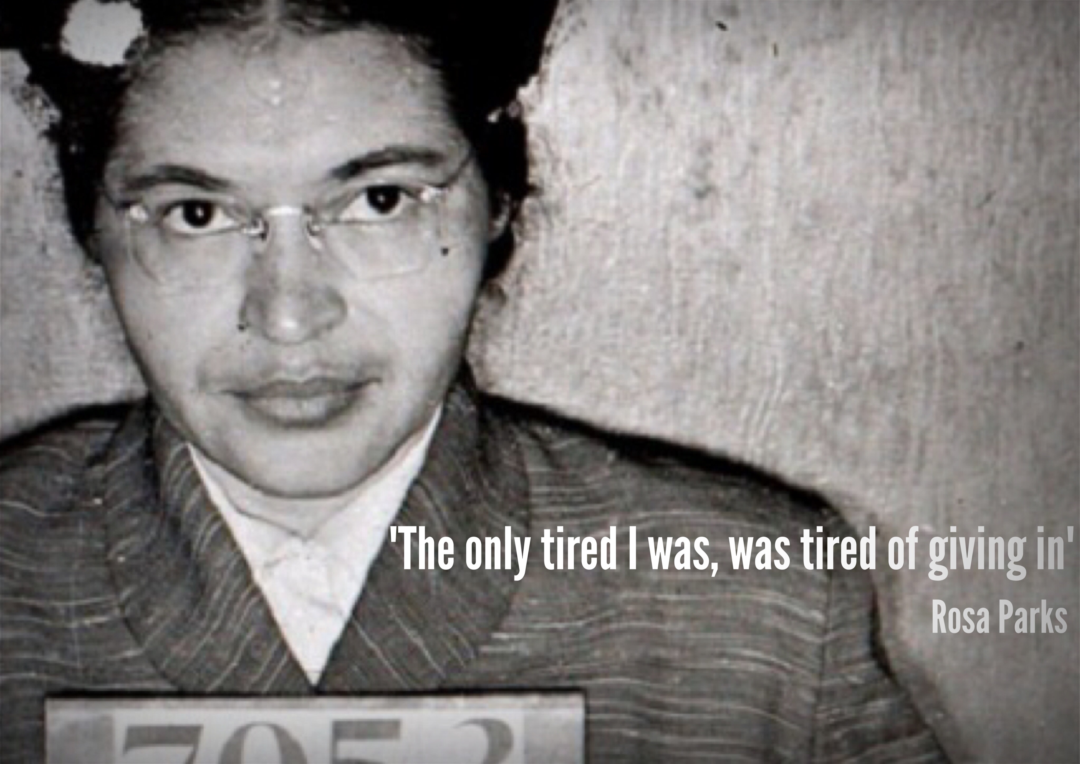 In Rosa Rosa Parks Tired Quote Poster Jivespin