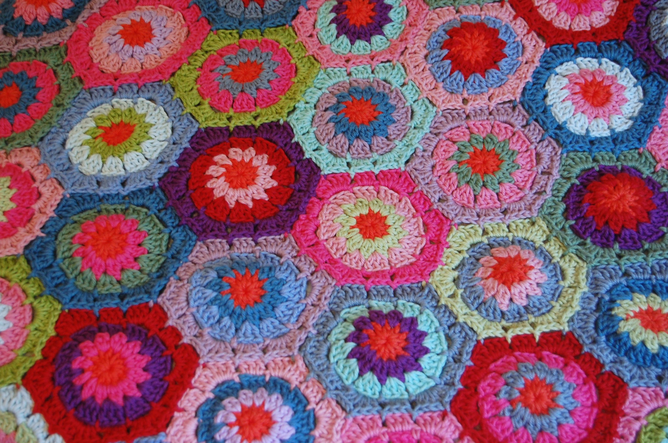 Crocheting Hexagons : this entry was posted in crochet crochet hexagon blanket projects