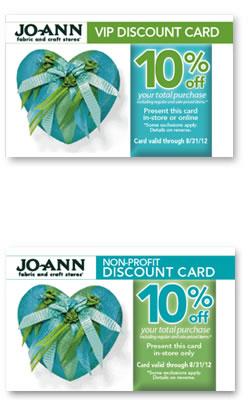 Jo-Ann Fabric VIP Non-Profit Discount Card Rewards Program