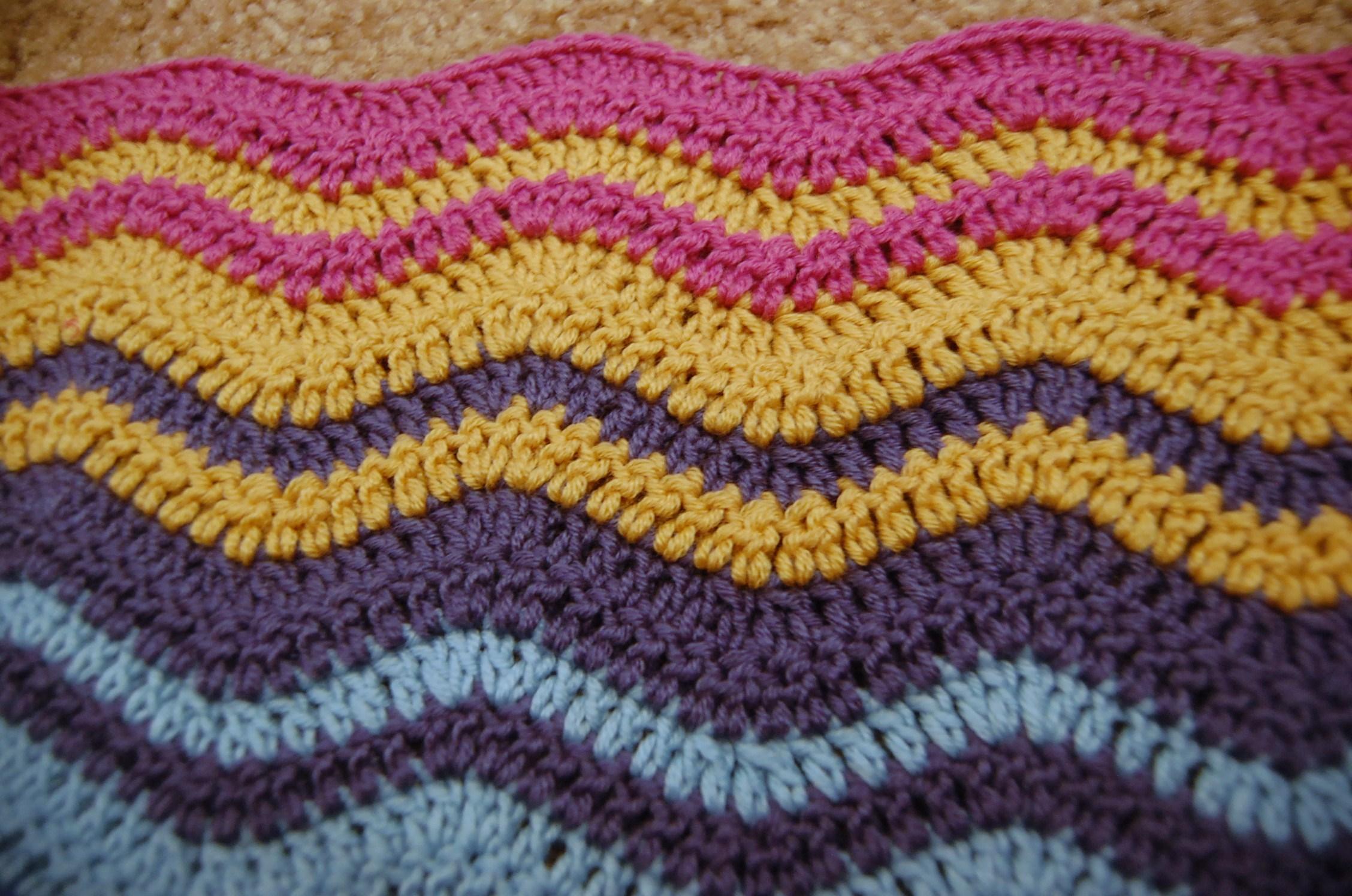 Afghan Patterns Crochet Ripple Crochet Ripple Blanket Pattern