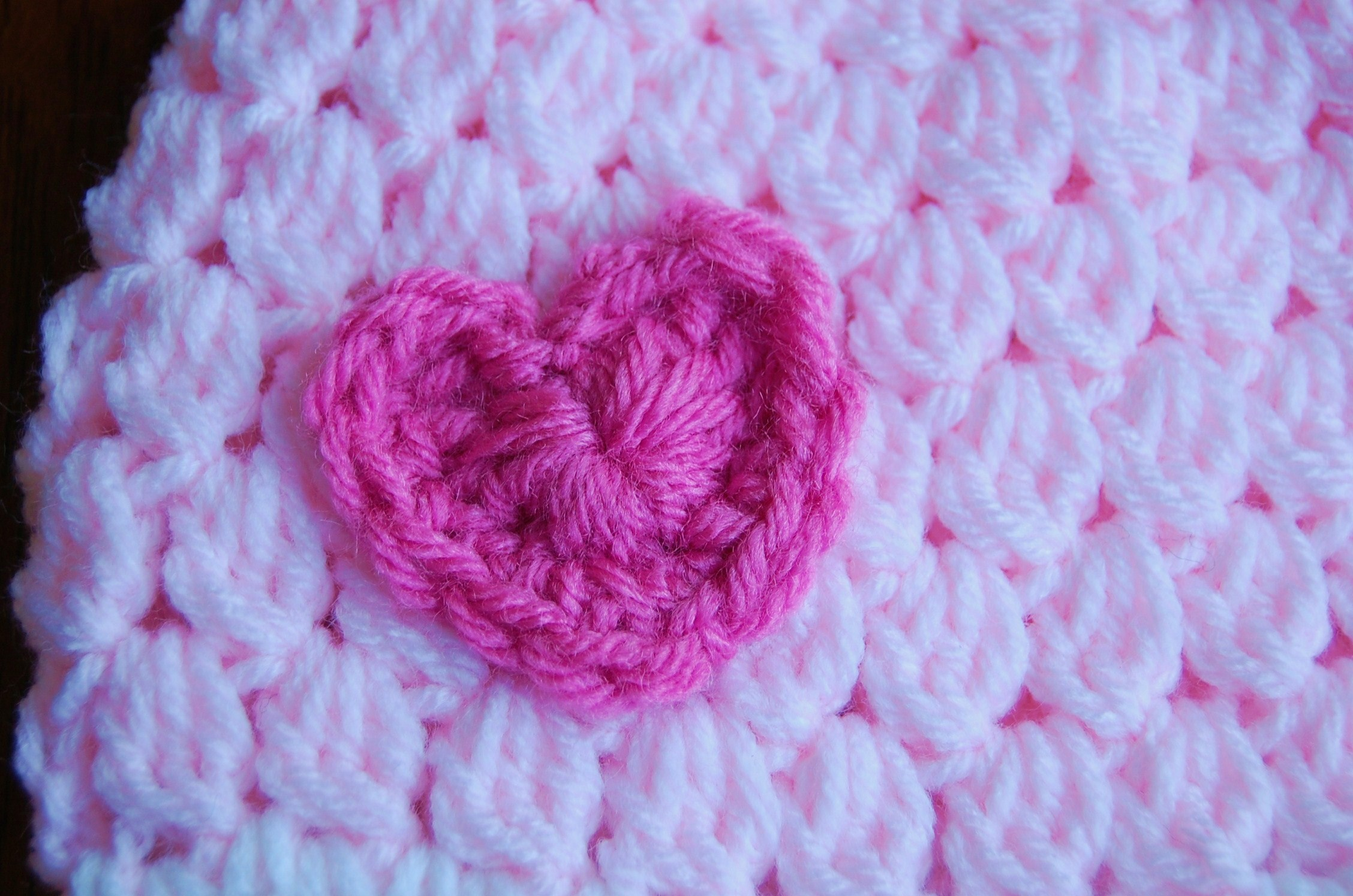 Free Crochet Heart Hat Pattern : Free Girls Crochet Hat Pattern with Heart