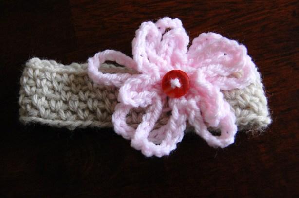 Newborn Crochet Flower Headband