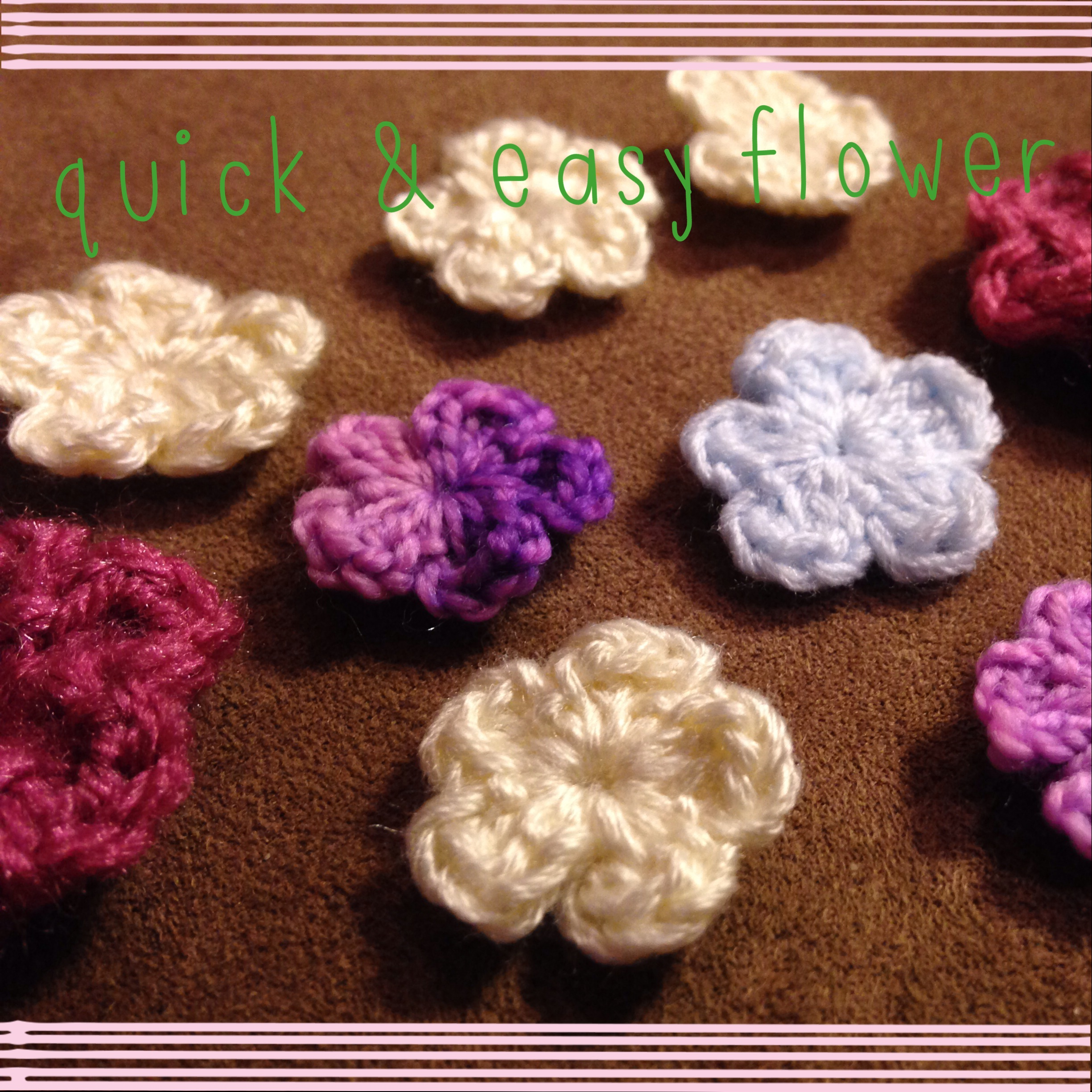 Pattern: Quick and Easy 5 or 6 Petal Flower - jkwdesigns