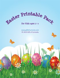 Free Easter activities printables pack from Gifts of Curiosity