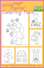 25 pages of Easter coloring pages from kidsactivitiesblog.com
