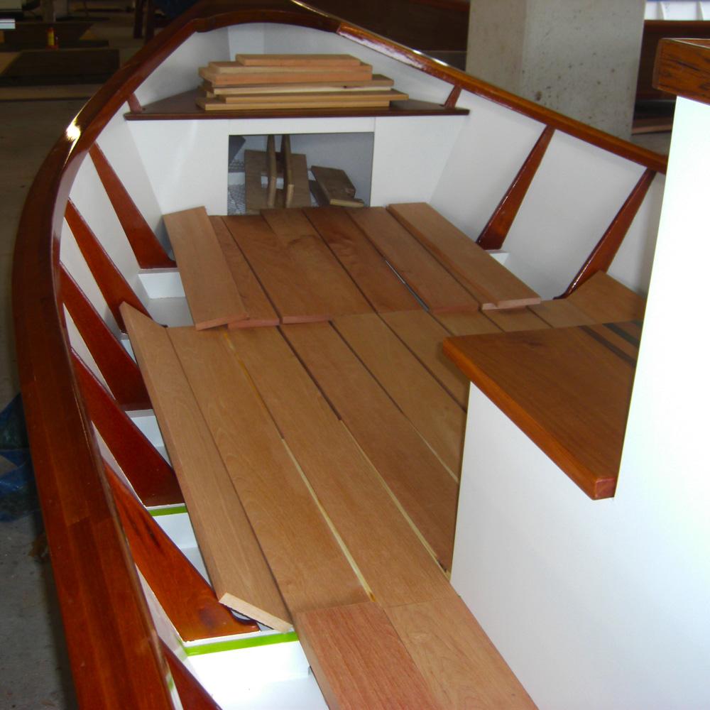 Jk Wood Studio Wooden Boats Lake Skiff Floorboards