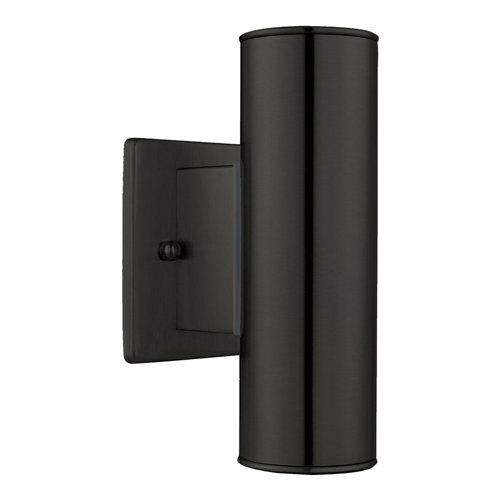 Eglo Riga Led Outdoor Wall Light 2x50w Outdoor Wall Light W Matte Black Finish 16p4f J