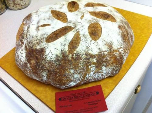 Fresh boule from Denver Bread Company