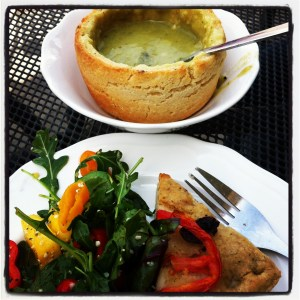 Vegan Soup, Salad, and Bread at Tabor Mountain Bakehouse