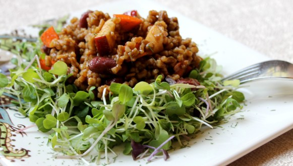 Wheat Berry and Red Bean Salad | JL Fields | JL goes Vegan